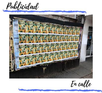 Ejemplo guerrilla publicitaria en paredes