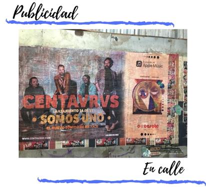 Ejemplo pegado de posters en calles y tapiales
