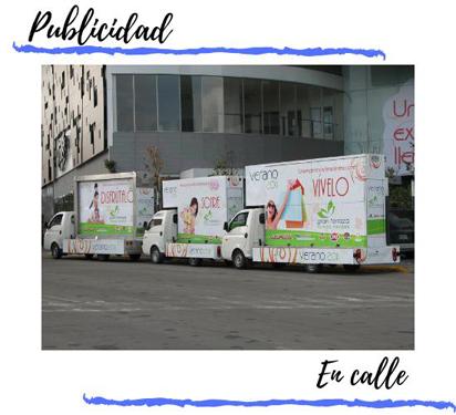 valla movil con perifoneo publicitario en calle