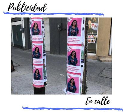 pegado de publicidad en postes